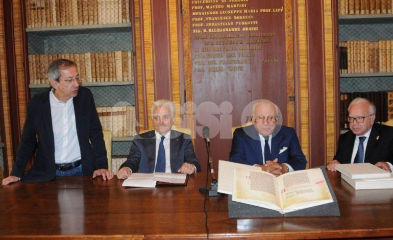 La Fondazione Sorella Natura dona all'Università di Perugia la riproduzione della prima stesura del Cantico delle Creature