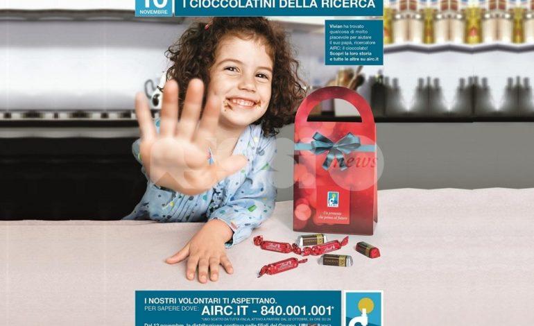 Anche ad Assisi i cioccolatini della ricerca 2018 di Airc