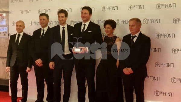 Manini Prefabbricati di Assisi premiata a Milano con il Le Fonti Italy