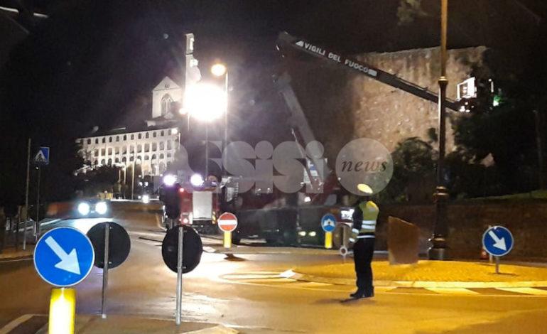 Albero pericolante nella zona di San Pietro, rimosso in due tempi (foto)