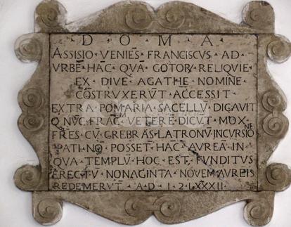 Massimo Iacopi e la targa commemorativa a San Francesco a Sant'Agata dei Goti