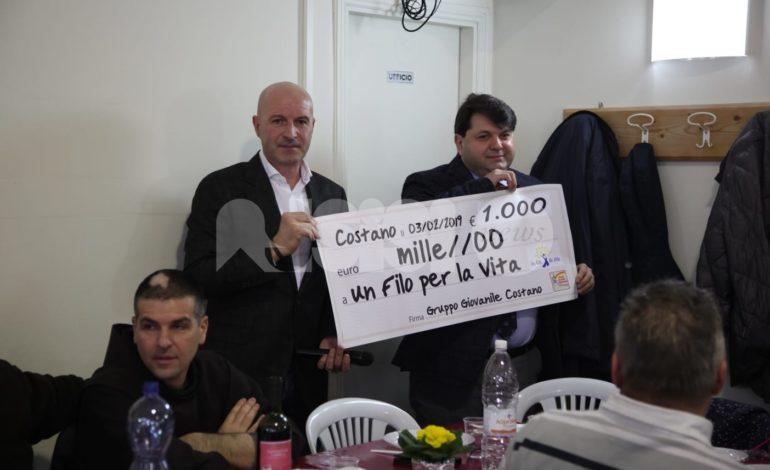 Il Gruppo giovanile di Costano dona mille euro a Un Filo per la Vita