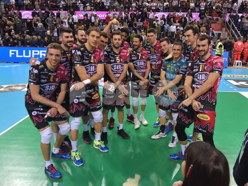 Volley, Sir Safety batte 3-0 Padova al PalaBarton: vittoria e vetta
