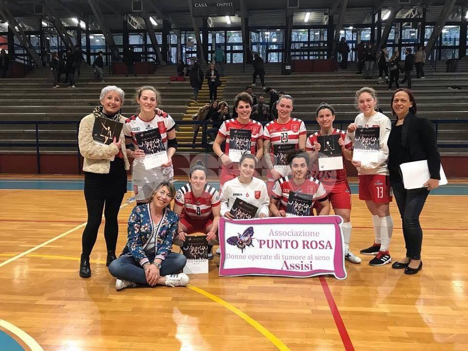 Perugia Futsal, vinta la gara di solidarietà per il Punto Rosa