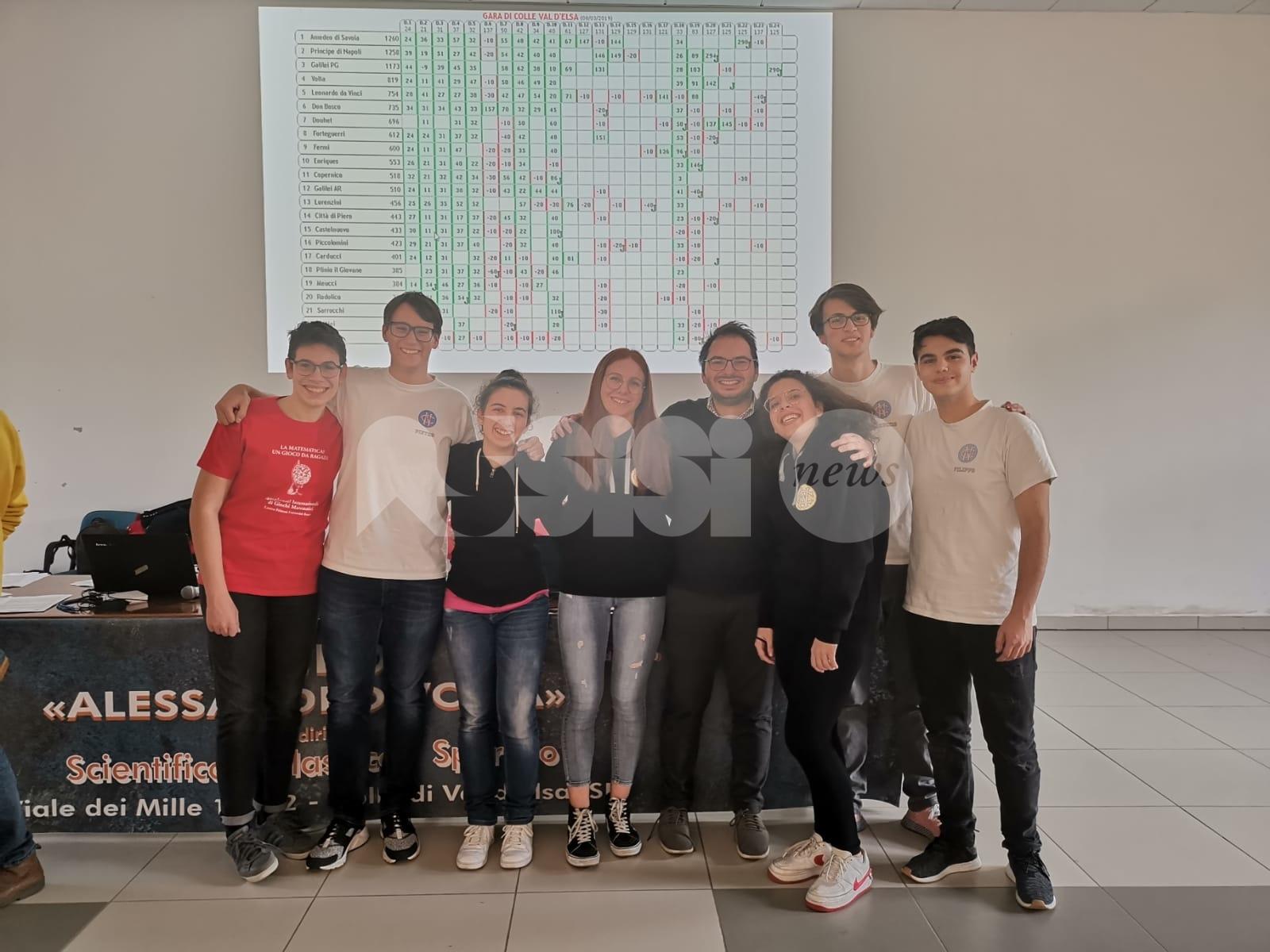 Il Liceo Scientifico di Assisi si qualifica per le finali della gara a squadre di matematica