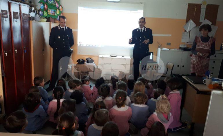 I Carabinieri del reparto di biodiversità di Assisi insegnano l'educazione ambientale alla Rinascita