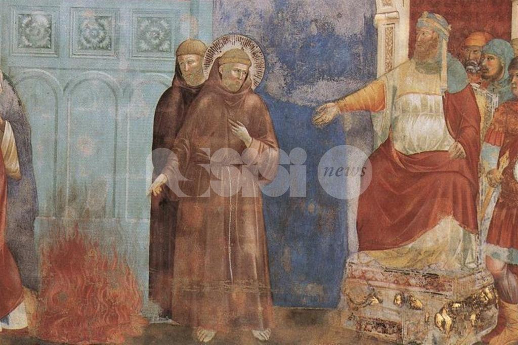 Un terzo diavolo negli affreschi a San Francesco, nell'incontro col Sultano
