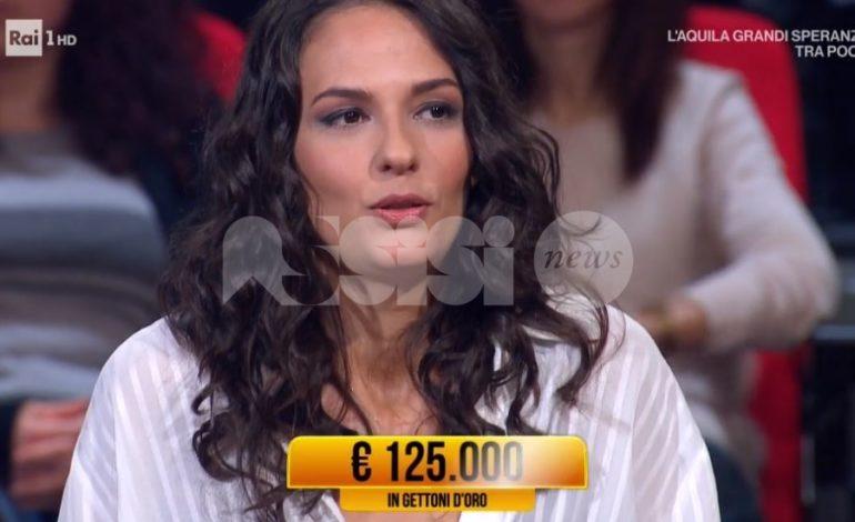 Valentina Dionigi da Bastia Umbra vince 125.000 euro a I Soliti Ignoti