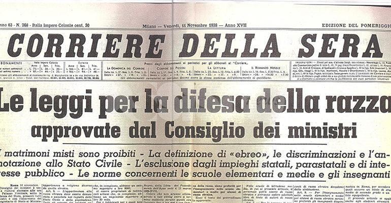Ad Assisi dal 16 maggio la mostra 1938 – Leggi razziali fasciste
