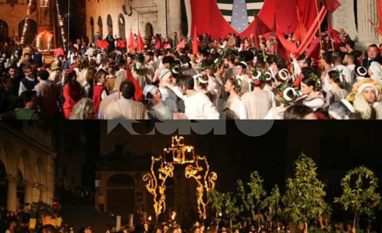Cortei notturni 2019 del Calendimaggio di Assisi, le foto