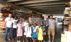 I ragazzi di Haiti in visita alla Buini Legnami di Santa Maria degli Angeli