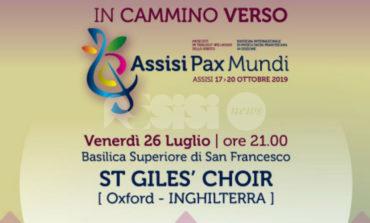 St Giles' Choir, da Oxford a In cammino verso Assisi Pax Mundi