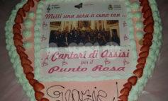 Metti una sera a cena, successo per l'evento Punto Rosa-Cantori di Assisi