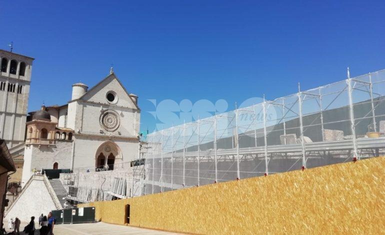 Muretto di San Francesco, quasi conclusi i lavori (le foto)