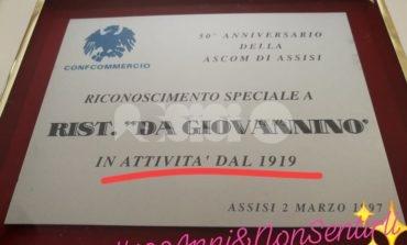 Il Ristorante da Giovannino festeggia i cento anni di attività