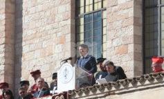 "Giuseppe Conte ad Assisi: ""Ricostruzione avanti senza indugi"" (foto+video)"