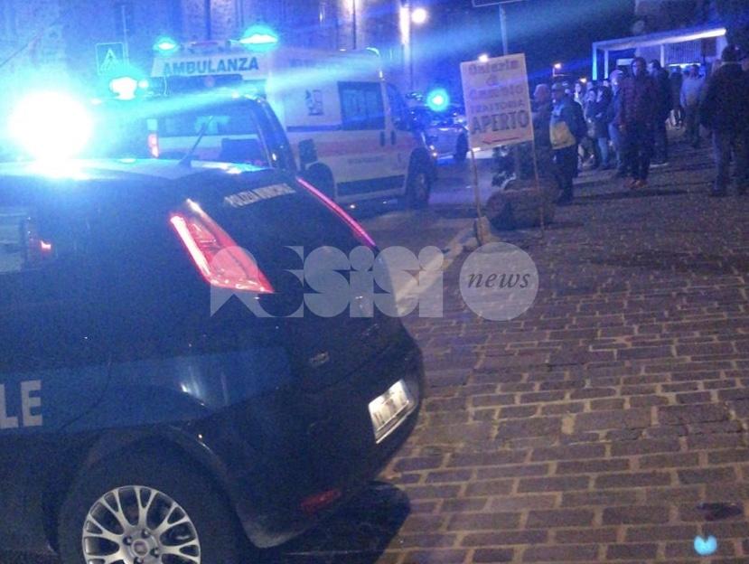 Anziano investito da un'auto a Palazzo di Assisi, trasportato in ospedale