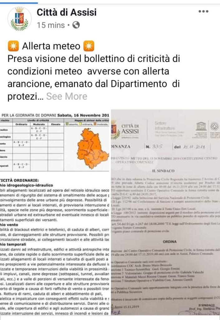Scuole aperte ad Assisi: il maltempo non ferma l\'istruzione ...