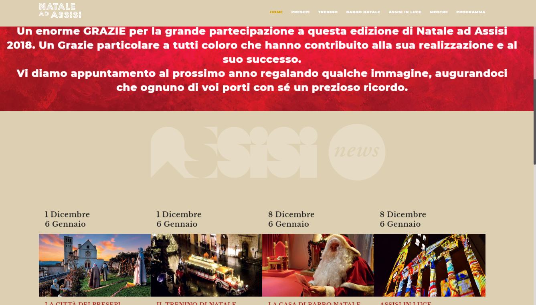 Natale ad Assisi, solidale, sostenibile e...col sito 'fermo'