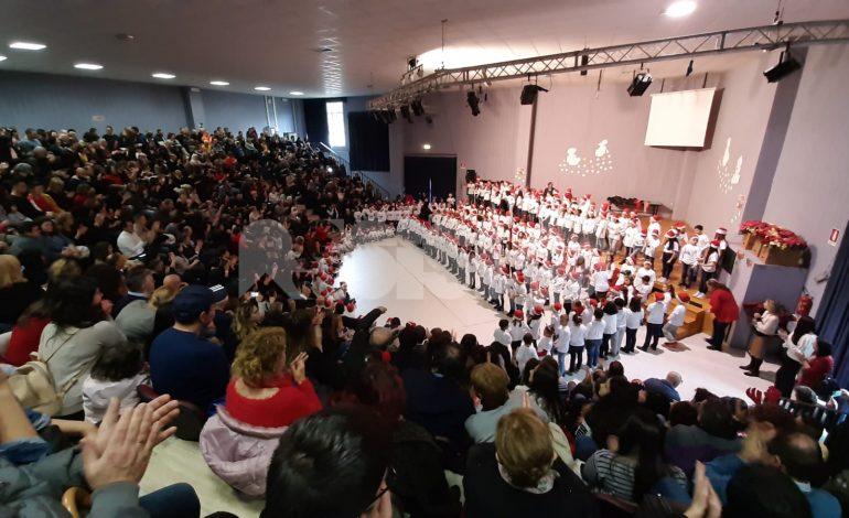 Saggio canoro di Natale 2019 alla Patrono d'Italia, grande successo (foto)