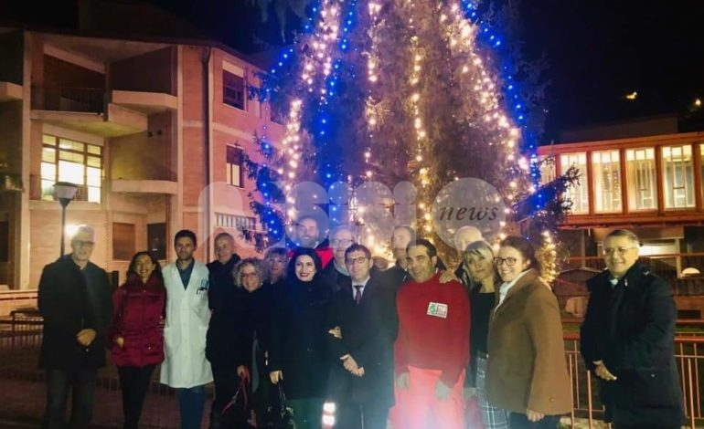 Albero e presepe 2019 all'ospedale di Assisi, ieri l'inaugurazione (foto)