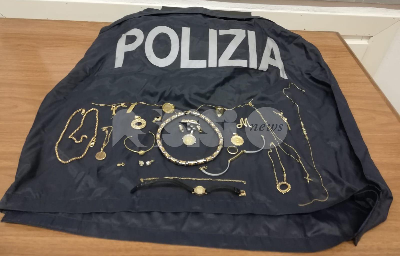 Monili d'oro rubati, la Polizia ritrova alcuni dei proprietari