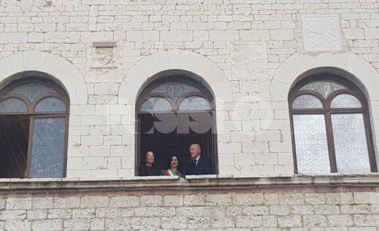 Simeone II di Sassonia-Coburgo-Gotha, già re di Bulgaria, in visita ad Assisi