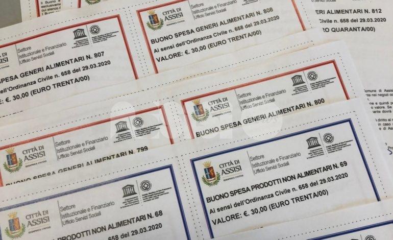 Buoni spesa, il Comune di Assisi continua ad aiutare le famiglie in difficoltà