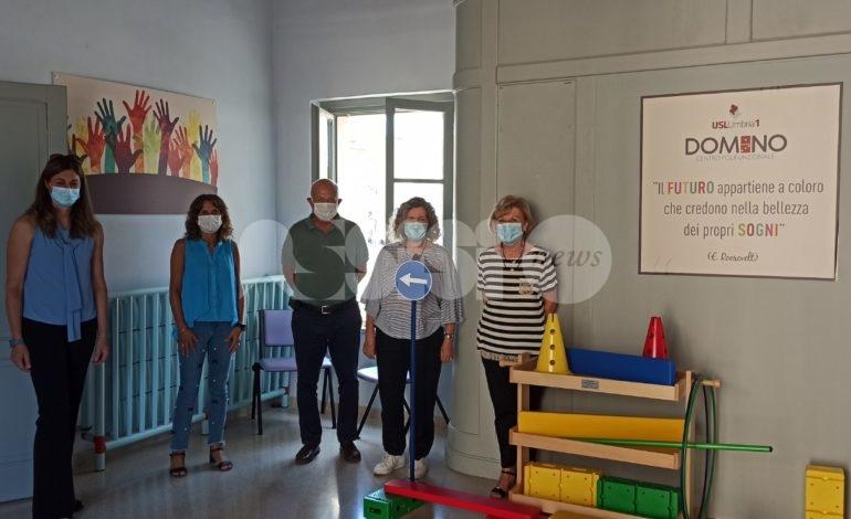 Un kit per la psicomotricità donato dal Lions di Assisi allo Sree