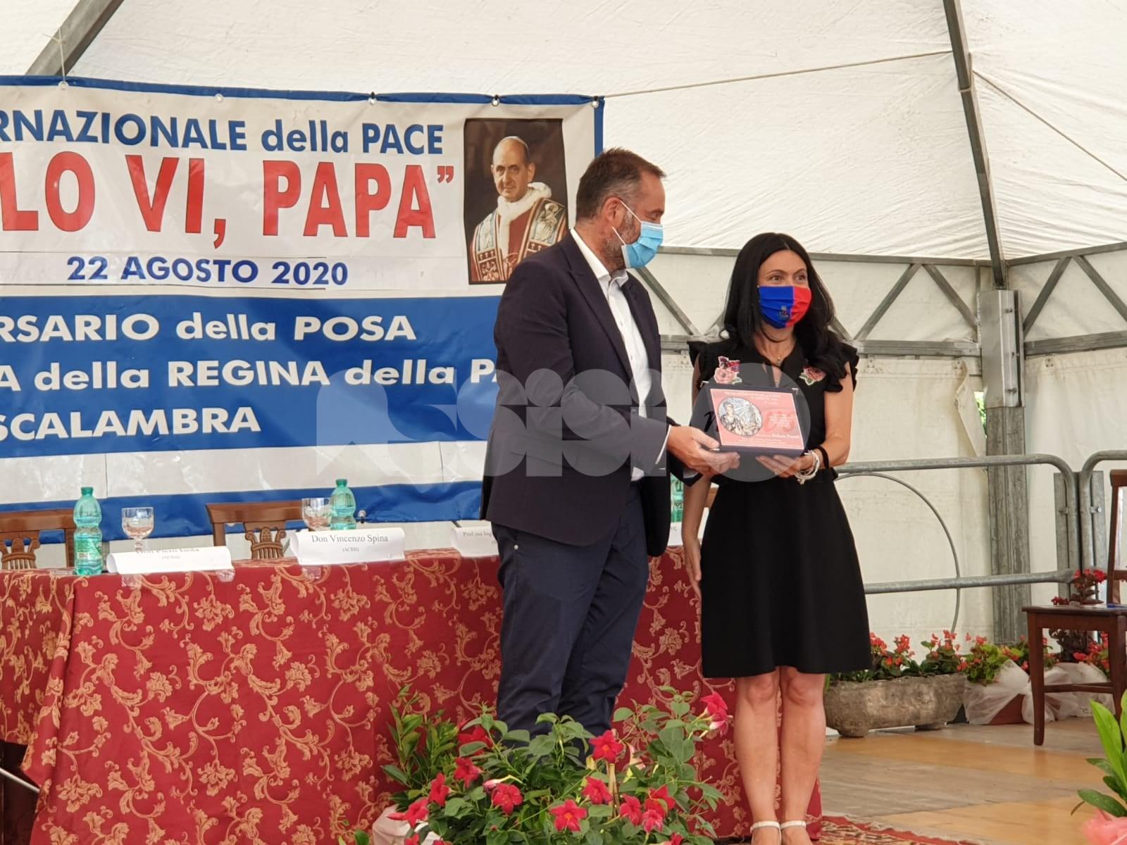 Premio per la Pace San Paolo VI al sindaco Stefania Proietti
