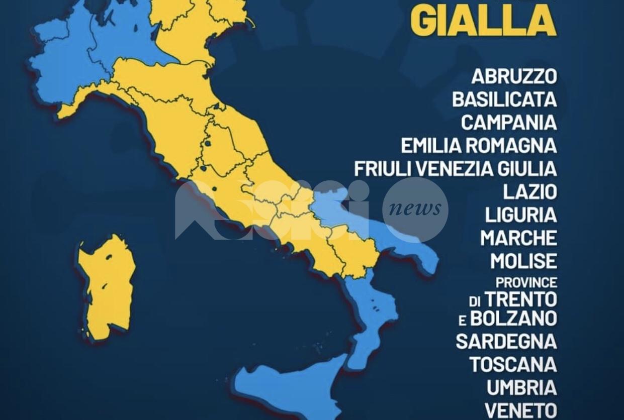 Zona gialla, le regole in Umbria per spostamenti e attività dopo il dpcm 3 novembre 2020