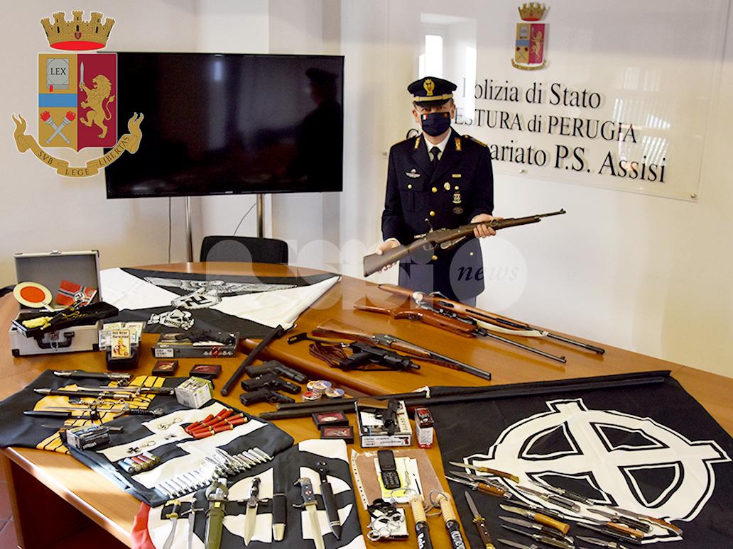 Armi ed effigi fasciste e naziste, 36enne assisano denunciato dalla Polizia