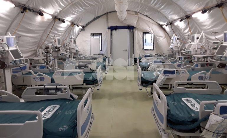 Ospedale da campo a Perugia, collaudato e consegnato all'azienda ospedaliera (foto)