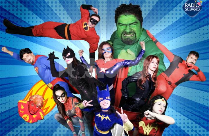 Carnevale di Radio Subasio, conduttori e conduttrici come super-eroi e super-eroine