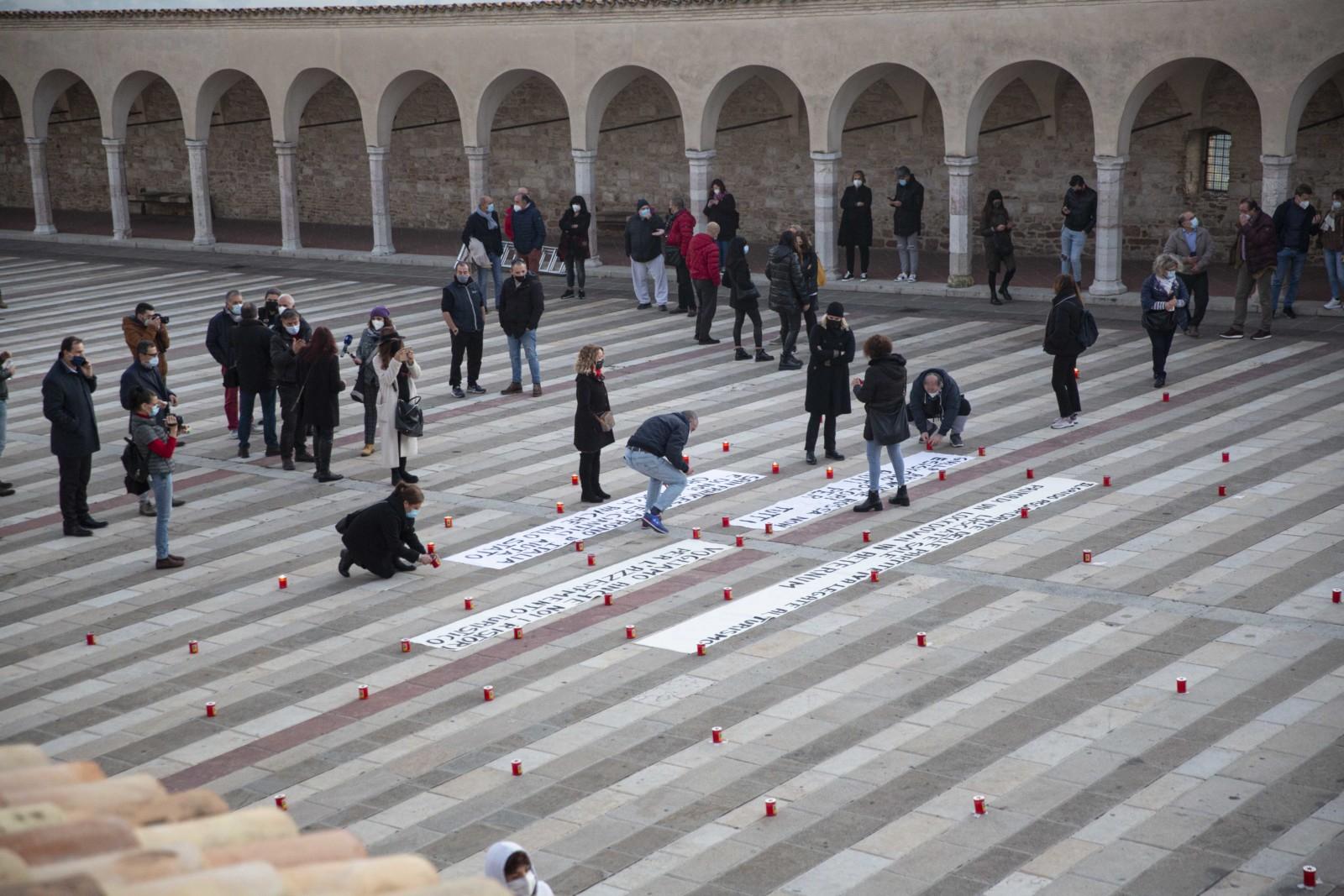 """Commercianti di Assisi di nuovo in protesta: """"Ancora nessun ristoro"""""""
