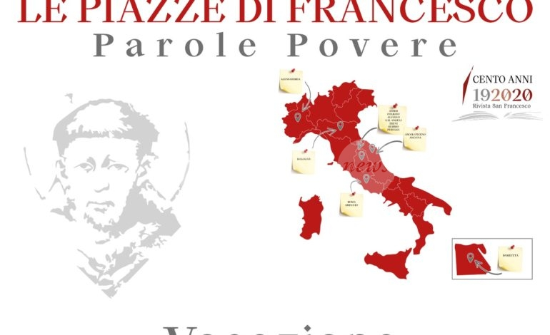 Le Piazze di Francesco, mercoledì 7 aprile appuntamento da Ascoli Piceno