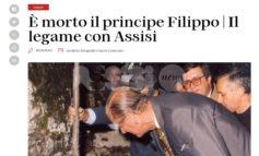 Principe Filippo, morto il duca di Edimburgo: venne ad Assisi nel 1986
