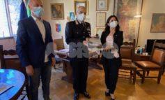 Il generale Antonio Pietro Marzo in visita al Comune di Assisi (foto)