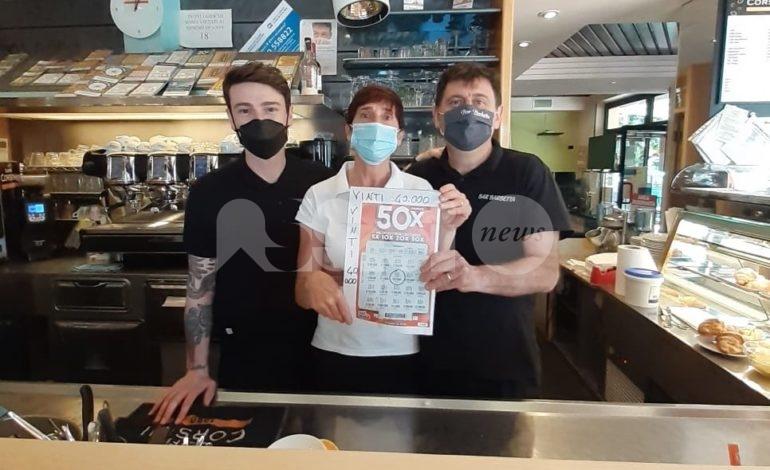 Bar Barbetta a Cannara, vincita da 40.000 euro con un gratta e vinci (foto)