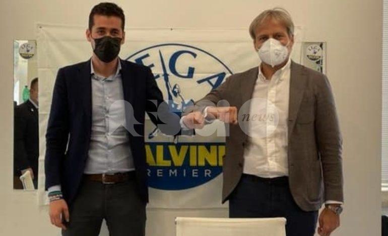 Andrea Crippa incontra il candidato sindaco Marco Cosimetti