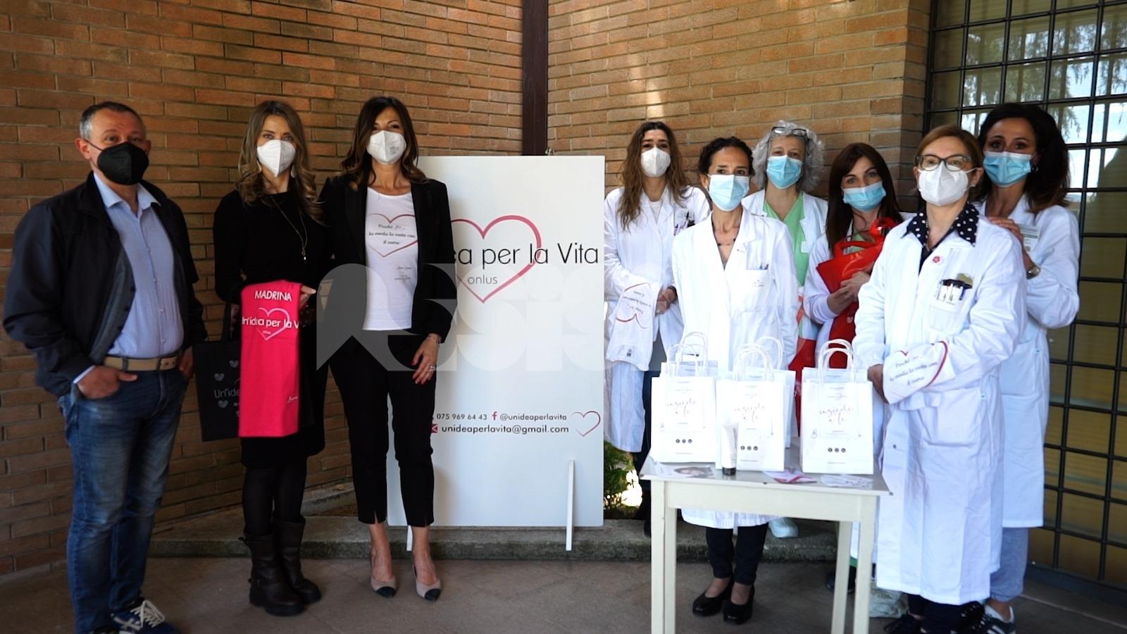 Un'idea per la vita onlus dona all'ospedale di Assisi creme total body