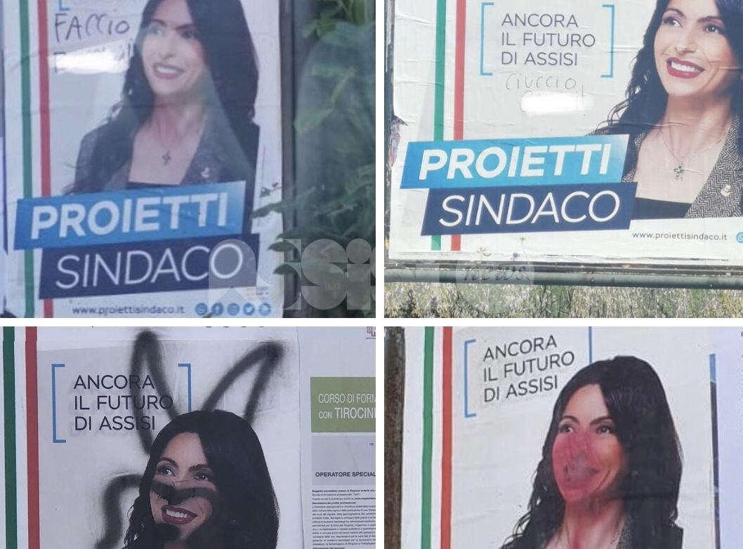 """Manifesti elettorali Proietti imbrattati, Assisi Domani: """"Inutile e controproducente"""""""