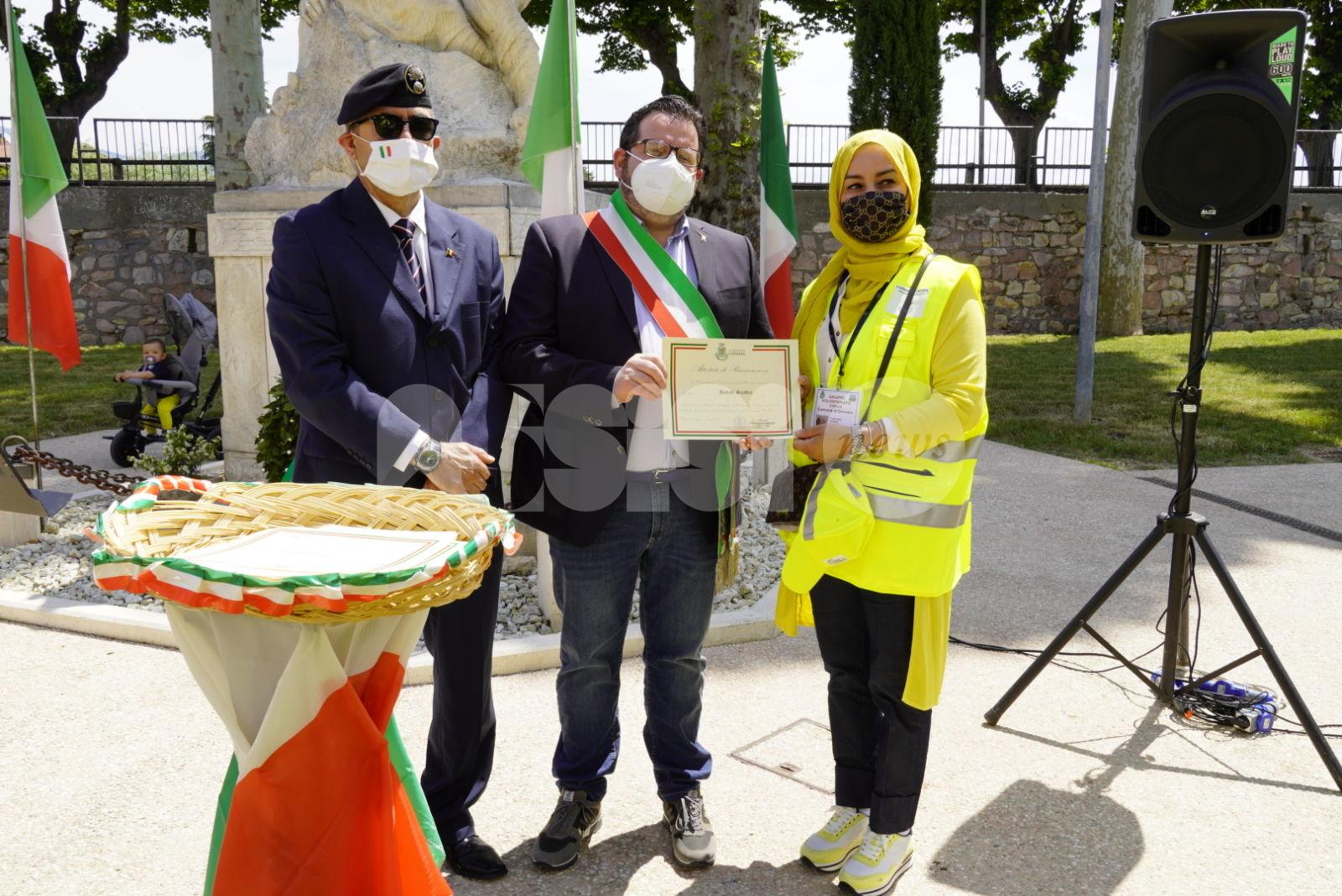 Volontariato cannarese premiato durante la Festa della Repubblica 2021