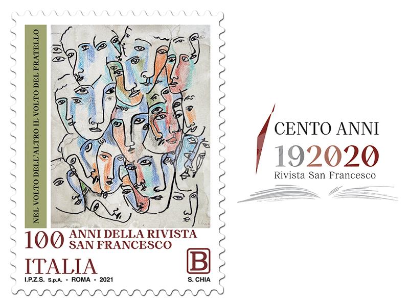 Francobollo per la Rivista San Francesco, si festeggiano i cento anni con un'opera di Sandro Chia