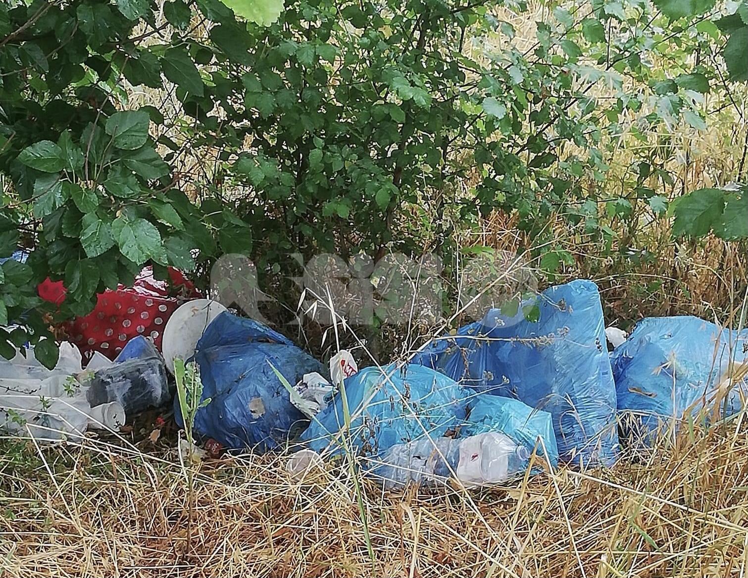 Rifiuti abbandonati, a Rivotorto spunta una discarica in via Francesca