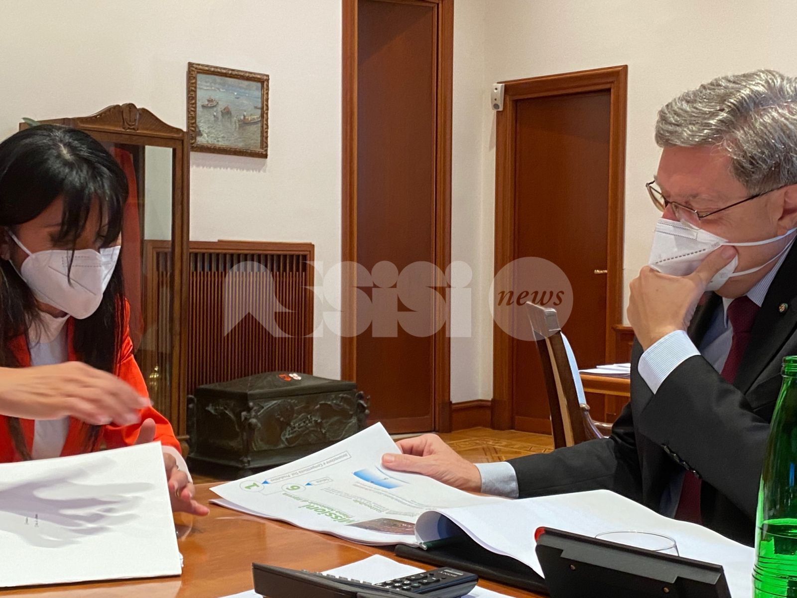 Sviluppo della città di Assisi, Proietti presenta alcuni progetti al ministro Giovannini: c'è anche la delocalizzazione delle fonderie