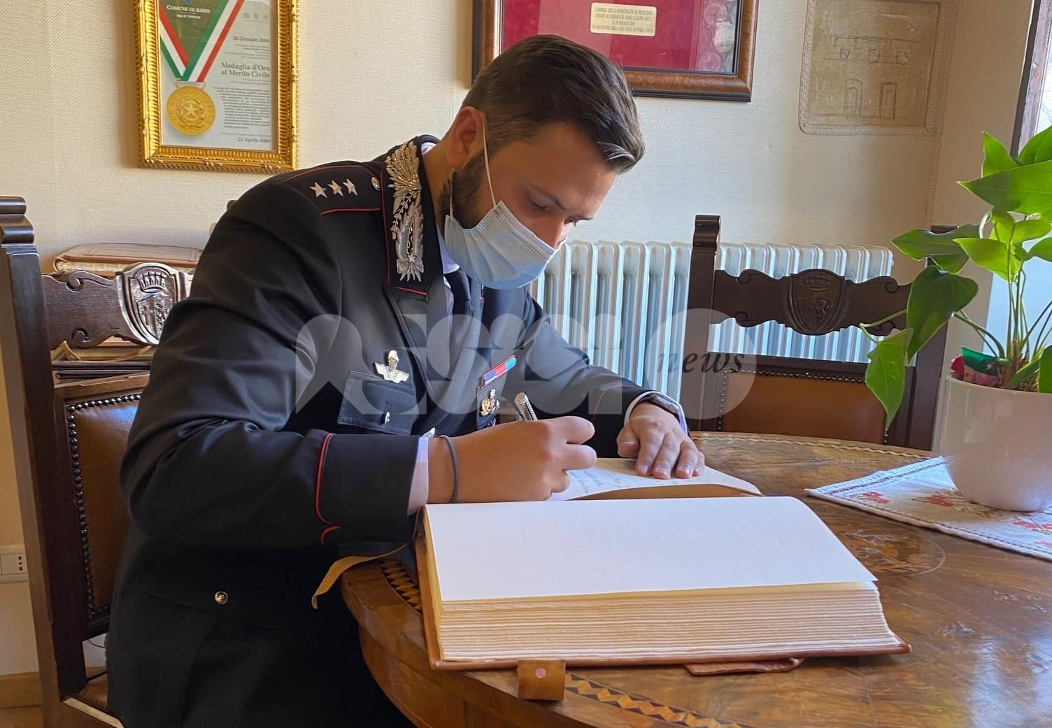 Vittorio Jervolino nuovo comandante della compagnia carabinieri Assisi